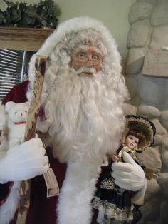 Karen Vander Logt's life-sized Santa, called the Wanderer. Many hours go into completing a Life Size Santa