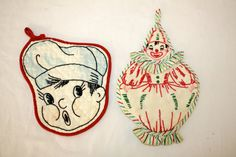 1950s Potholders, Pair