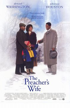 The Preacher's Wife, tiny little film about faith, marriage, love, temptation and the voice that holds a community together.    Tiny little movie I was saying, but made enormously large by the presence of Whitney Houston, the little woman of great voice, here committed to making this film shine reflected light derived from the echo of his unforgettable ugula.