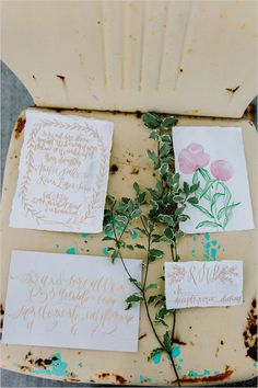 gold and white wedding stationery from mon voir #weddinginvitations #goldweddinginvites #weddingchicks http://bit.ly/1hWX5m0