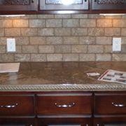 Concrete counter-love the backsplash