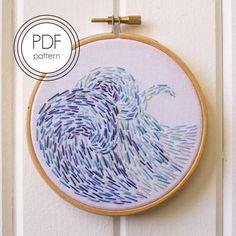 Modern Embroidery Pattern PDF. Modern Hoop Art. by LovelyMesses
