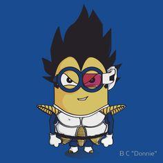 zone-b: Migeta, Dragon Ball Z + Minion = MinionBall Z Dragon Ball Z, Dragon Z, Minion Meme, Minions Love, Mode Geek, Minion Pictures, Geek Art, Illustrations, Retro