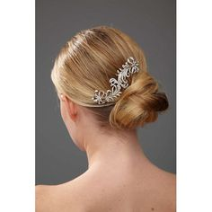 $175 Antique Silver And Swarovski Crystal Hair Pin - NinaShoes