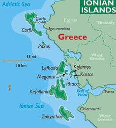Sailing in the Southern Ionian Islands in Greece