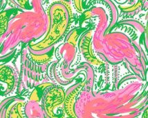 """Lilly Pulitzer Hot Wings Dobby Cotton Fabric 18""""x18"""""""
