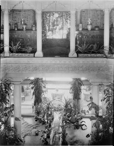 The central court at Louis Comfort Tiffany's 'Laurelton Hall'.