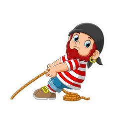 Pirate pulled a rope cartoon character vector Free Vector Images, Vector Free, Cartoon Characters, Fictional Characters, Border Design, Pirates, Crafts For Kids, Colorful, Artist