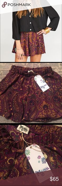 Show Me Your Mumu shorts - NWT!!! Carlos Swing Shorts ~ Princess Plum new with tags!!!! I'm a size 4-6 and the medium fits well. Show Me Your MuMu Shorts