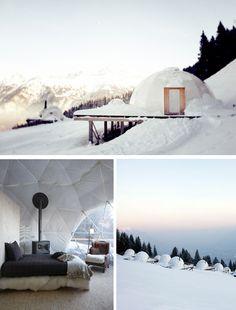 The Whitepod Resort in Vaud, Switzerland!