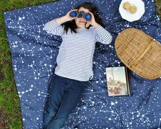 a picnic blanket to star gaze on