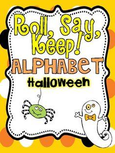 Roll, Say, Keep {Halloween ABC}