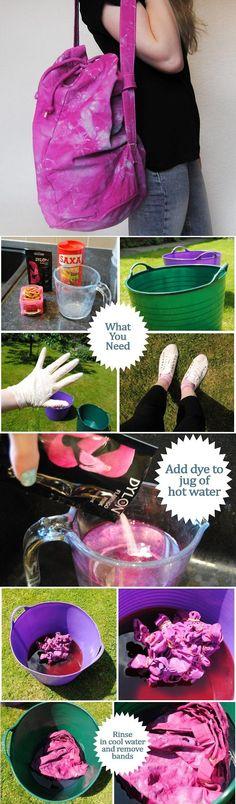 Dyeing for Fun: DIY Fashion Tie Die DIY Tie-Dye Duffel Bag