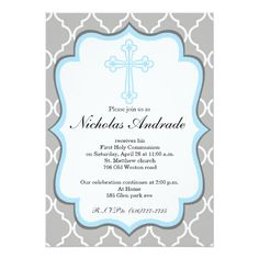 first communion invitations for boys personalised first communion