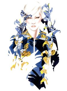 Carven Fall Winter 2014/15 fashion illustration by António Soares