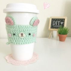 Flying Mio's Cute DIY Crafts - crochet cup cosy