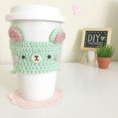 Flying Mio's Cute DIY Crafts - crochet cup cosy