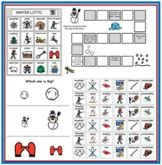 Winter Themed Speech Materials from Speaking of Speech - Pinned by @PediaStaff – Please visit ht.ly/63sNt for all (hundreds of) our pediatric therapy pins