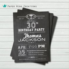30th birthday invitation. Retro 30th by ThePaperWingCreation, $15.00