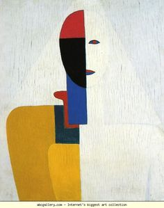 Kazimir Malevich. Woman Torso. Oil on wood. 58 x 48 cm. The Russian Museum, St. Petersburg, Russia.