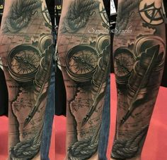 Tattoo Arm Compass