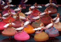 "Polish Dancers (""Mazowsze"") wearing Folk costumes in Kraków, Folk Dance, Dance Art, Ballet, Folk Costume, Costumes, Visit Poland, Polish Folk Art, Poland Travel, Thinking Day"