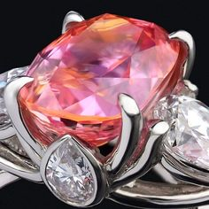This Stunning padparadscha sapphire rings 61 image is part from 90 Stunning Padparadscha Sapphire Rings that You Must See gallery and article, click read it bellow to see high resolutions quality image and another awesome image ideas. Pink Jewelry, Sapphire Jewelry, Gemstone Jewelry, Sapphire Rings, Gem Diamonds, Pink Bling, Diamond Are A Girls Best Friend, Pink Sapphire, Beautiful Rings