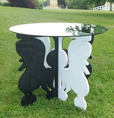 "Poodle Table! It's 29"" tall with a diameter of 36""."