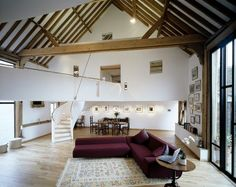 A beautiful modern farm house combining traditional and modern elements, this barn conversion design is somewhat of a local landmark. The home was actually part of a Television show, Grand...