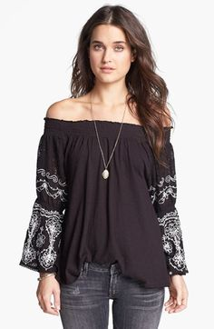 Free People 'Acapulco' Embroidered Top