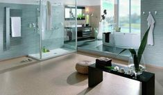 walk in shower design with glass screen