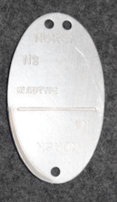 Norjalainen tunnuslevy, valmistettu 24.11.1944