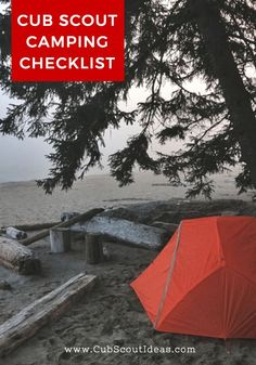 Cub Scout camping checklist Camping World, Family Camping, Tent Camping, Outdoor Camping, Camping Gear, Camping Packing, Packing Lists, Camping Trailers, Hiking Gear
