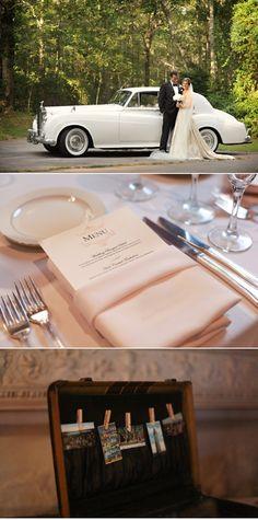 love the old car! Wedding cars, wedding SUV, Bridal transportation. Wedding Limos