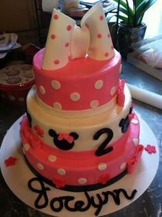 Pink Minnie!!! omg this is how i want arias first bday cake