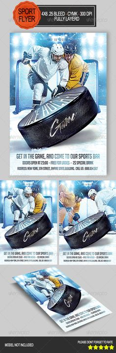 Hockey match flyer template flyer template hockey and template maxwellsz