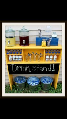 Very cute idea for the Summer time or at an outdoor party.