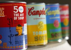 Campbell's Selling Andy Warhol Soup Cans.
