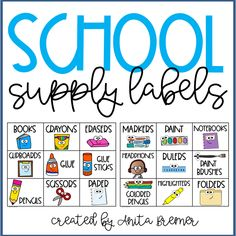 Sweet school supply labels to organize your classroom! This download includes 18 labels for any containers. #backtoschool #school #classroom #classroomsetup #classroomorganization #classroomlabels #schoolsupplylabels #organization Classroom Labels, Classroom Setup, Classroom Organization, School Classroom, School Supply Labels, Back To School Pictures, School Routines, Back To School Activities, Beginning Of School