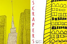 Skyscraper-Line-Drawings 5th grade- perspective or 4th grade- emphasis