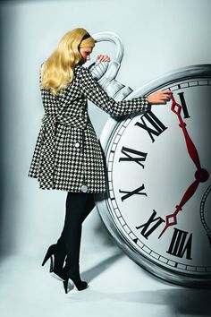 Houndstooth coat - nice shaping
