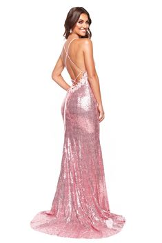 ed0f0dfe47 A N Luxe Maddison - Pink Sequin Mermaid Gown with Floral Detailing – A N Luxe  Label