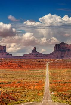 Monument Valley, Arizona-Utah  I would like to drive this road in an open convertable