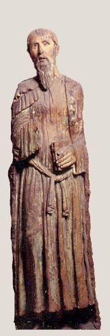 Lorenzo di Pietro detto il Vecchietta (Siena 1410 - 1480) - San Paolo - ante 1460 - statua lignea policroma - cm 186 x 46  - Museo Horne - Firenze