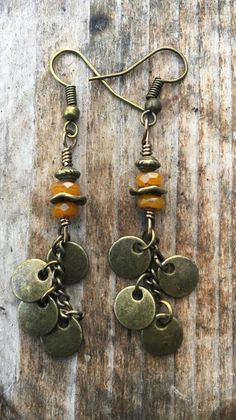 Boho Earrings Hippie Earrings Gypsy Earrings by BeachBohoJewelry