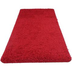 Washable Rug in Red ($34) ❤ liked on Polyvore featuring home, rugs, traditional area rugs, traditional rugs, olefin area rugs, textured rug and olefin rugs