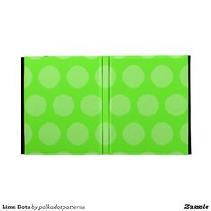 Lime Dots iPad Cases