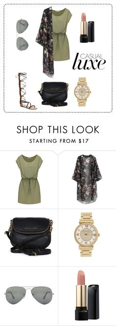 """""""Untitled #74"""" by branabranci ❤ liked on Polyvore featuring Chicnova Fashion, Michael Kors, Ray-Ban and Lancôme"""
