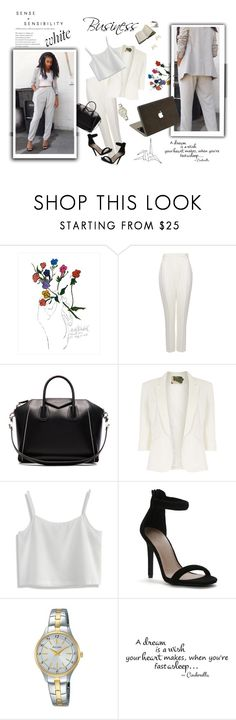 """Business"" by smajicelma ❤ liked on Polyvore featuring Dot & Bo, Haider Ackermann, Steve Madden, Givenchy, Jolie Moi, Chicwish, Pulsar and Valentine Goods"