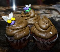 Go ahead, bite right into that fly on a poop cupcake...